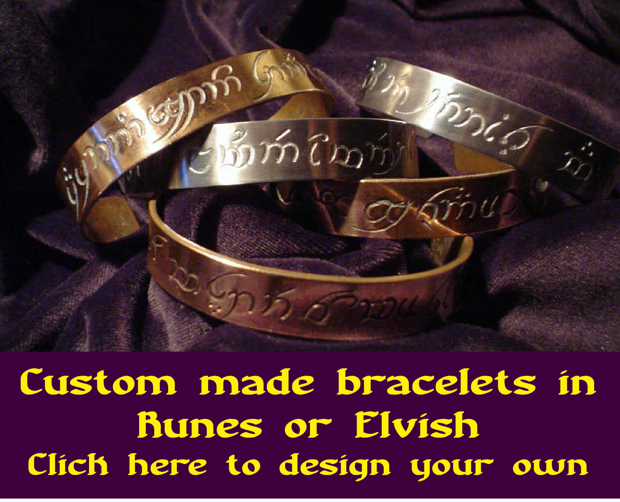 Click for custom made bracelets.